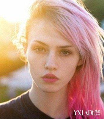 【图】女生银灰粉色头发发型展示 时尚甜美显独特个性