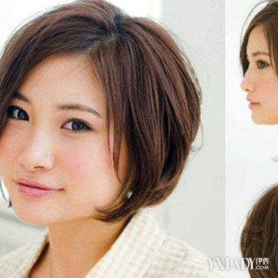 短发发型图片2014女圆脸烫发 大圆脸适合什么发型图片