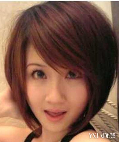 圆脸适合的短发发型图片2014女 让五官显得更精致迷人图片