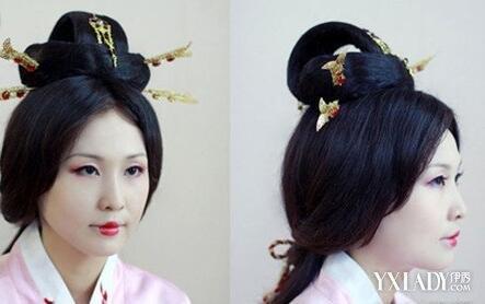 【图】汉朝发型梳法图解 3种汉代女子发型的梳法介绍 (443x278)图片