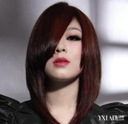 【图】流行的37分斜刘海直发发型图片