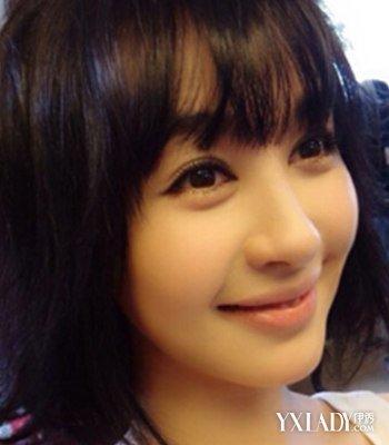 圆脸窄额头适合什么发型 图片:  不少东方人是圆脸型,但不少圆脸的人