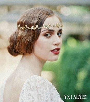 2016欧式复古红唇发型婚纱