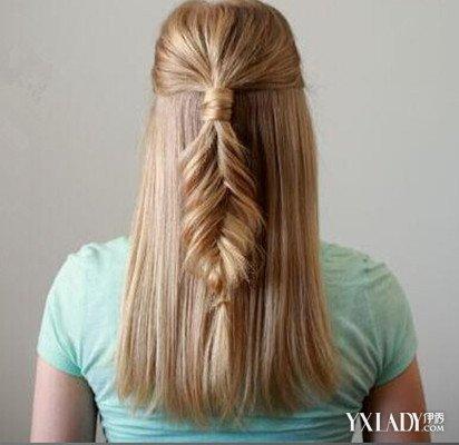 【图】空气编发发型图解三分钟完成好看教程中长发用发带怎么弄长发刘海图片