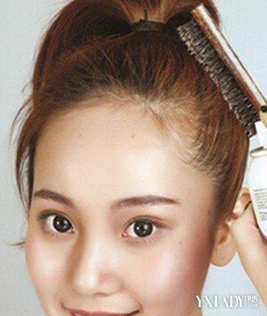 【图】分享赵丽颖丸子头的扎法图解