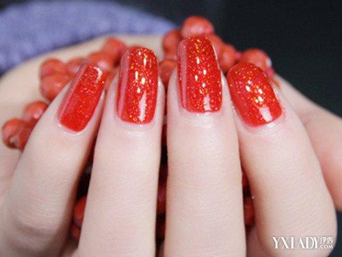 【图】新娘指甲红色美甲款式