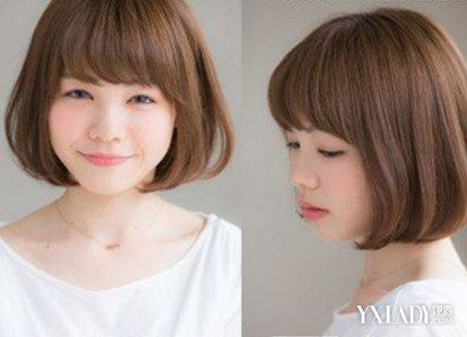 【图】圆脸大短发适合头发女生波波齐耳型塑造精致圆脸女什么短发比较好看图片