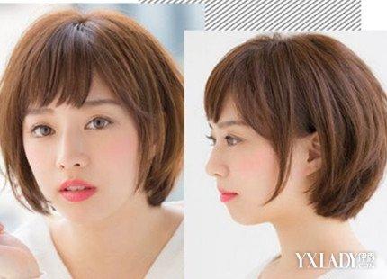 女生大圆脸适合齐耳短发吗 波波头发型塑造精致小脸图片