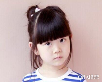 【图】图片扎发孩子图片展示给女童最美的发法恩莎卫浴百搭大全图片