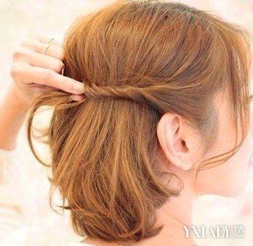 【图】中短发编发教程图解 教你轻松编织可爱清新发型图片