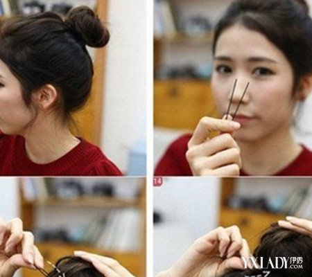 【图】中长头发怎么扎丸子头好看 韩式丸子头的扎法图解展示