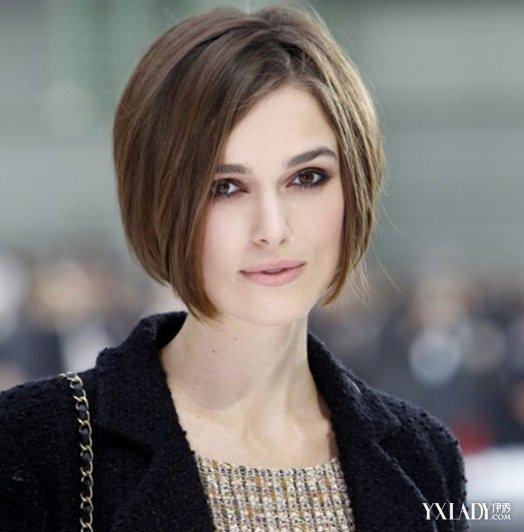 国字脸适合的短发发型图片大全 气质女人味优雅直发图片