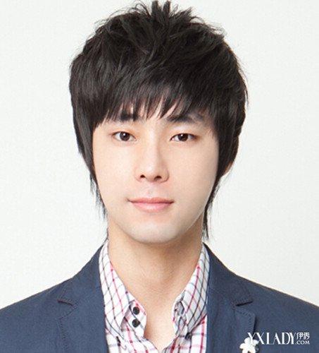 碎刘海男生发型图片 展现帅气暖男气质图片