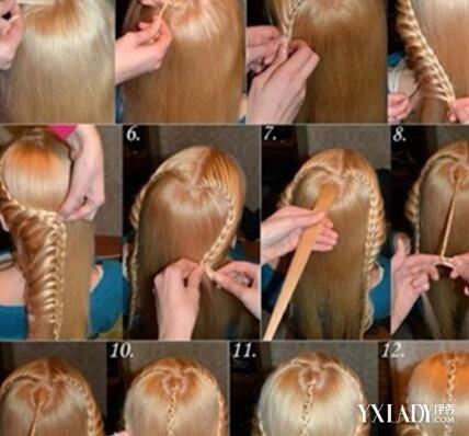 【图】简单花样头发编法图解 让你美美的过一个冬天