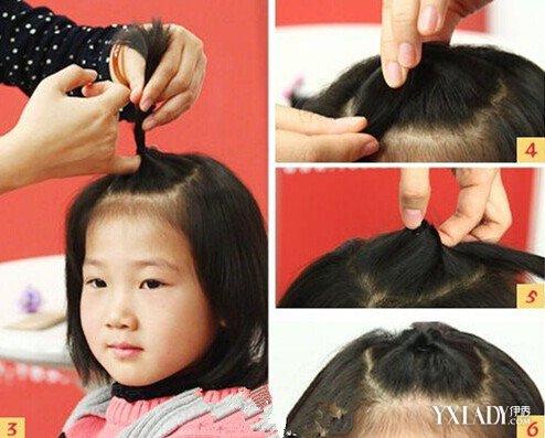 【图】小女孩头发短怎么扎 5种简单步骤你知道吗