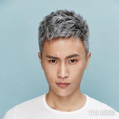 男士烟灰色头发怎么染好看 4款另类发型释放个性魅力