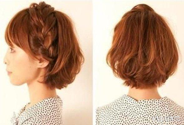 小女孩短发编发图解介绍 妈妈必学的盘发发型
