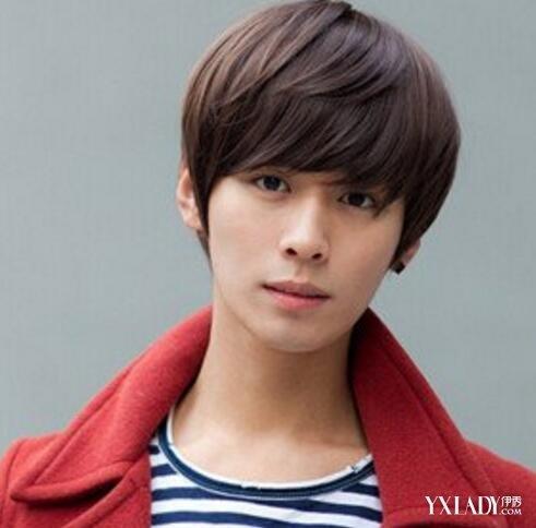 男生齐刘海发型染发展示 潮流发型教你如何做个小帅哥图片