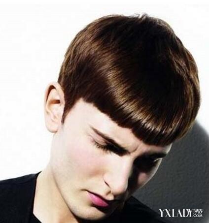 男两边剃平刘海发型 四款造型总有一款适合你图片