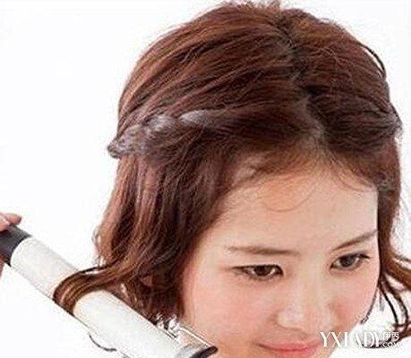 中分齐肩短发编发教程 教你如何轻松变换发型