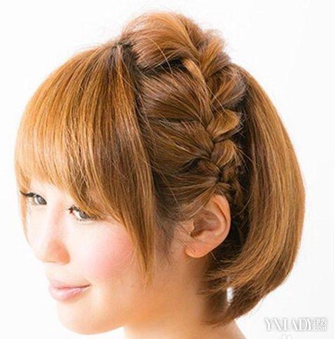 【图】中教程介绍教程发型编发四步简单短发中学生女染头图片
