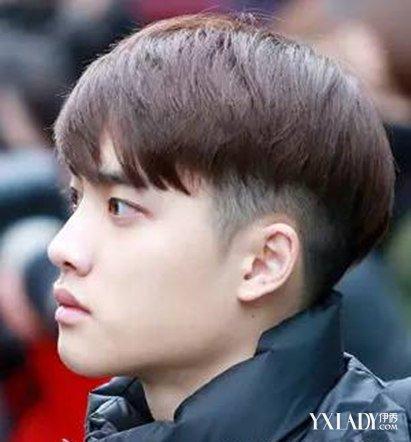 【图】男士发型短发铲两边弧形刘海 打造气质暖男