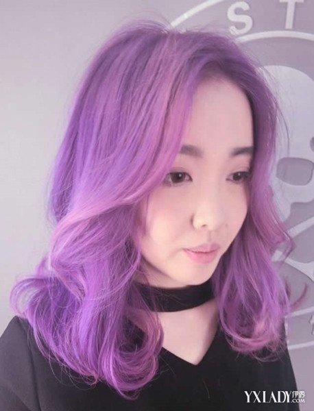 粉紫色头发怎样调配_粉紫色染发教程图片