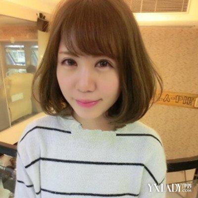 【图】日式短发大气头发型v短发唯美圆脸修颜梨花直发斜刘海好看吗图片