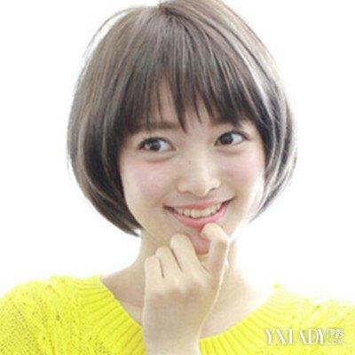 女中学生短发发型图片展示 干净简约显小清新女神范