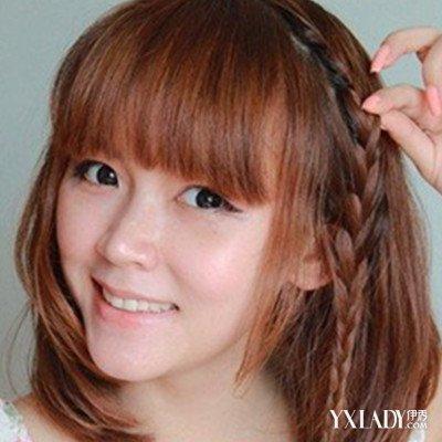 【图】齐刘海短发编发教程展示 4款发型清爽甜美并存