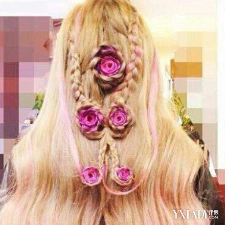 【图】美丽的玫瑰花头发怎么编