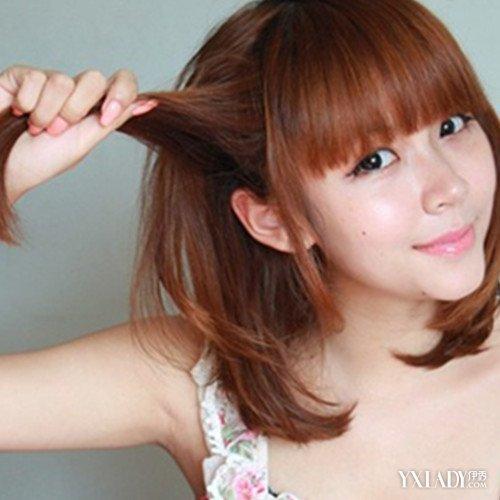 【图】中短发编发发型扎法图解 教你6种扎发方法