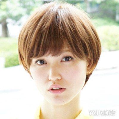 【图】圆脸女孩短发图片展示4款v圆脸修出完美惠利短发怎么剪的图片
