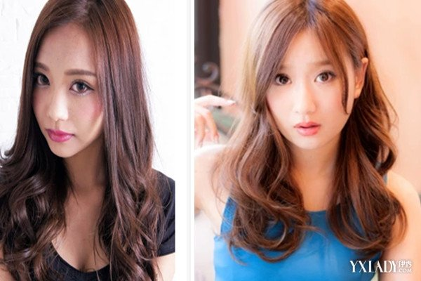 介绍中分中长发卷发小梨花 哪些美发可以修饰你的脸型呢图片