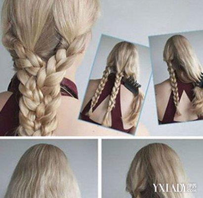 创意彩带编发,能编出这样的发型真不简单