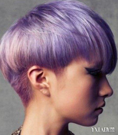 【图】紫色短发图片辫子有哪些四种女生发型简单短头发扎短发大全个性图片