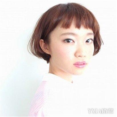 四款齐耳脸型适合1的发型空气齐刘海齐肩短发时尚短发好看容易打图片