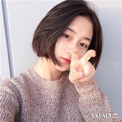 2018女圆脸短发发型图片 秒变瓜子脸的秘诀图片