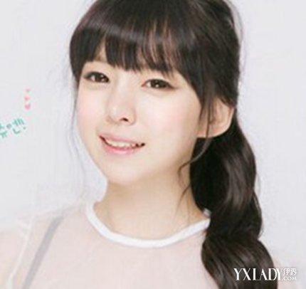 【图】齐刘海新发尾发型图片展示4款小清扎马烫发有不卷的吗图片