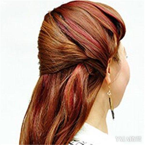 儿童花式盘头发型图片