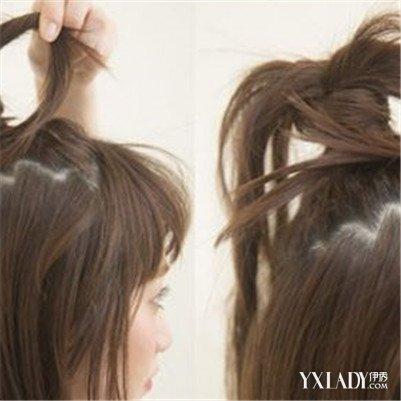 中长发半丸子头扎法大盘点 5步教你中长发半丸子头扎法图片