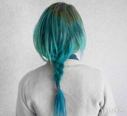 【图】另类深色闷青色头发图片 非主流气质十足