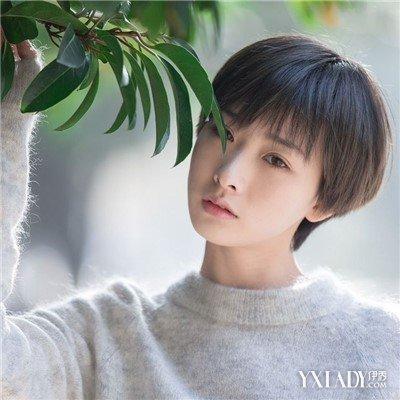 【图】2016韩国发型帅气时尚女生男生帅气超捆绑短发女生丝巾图片