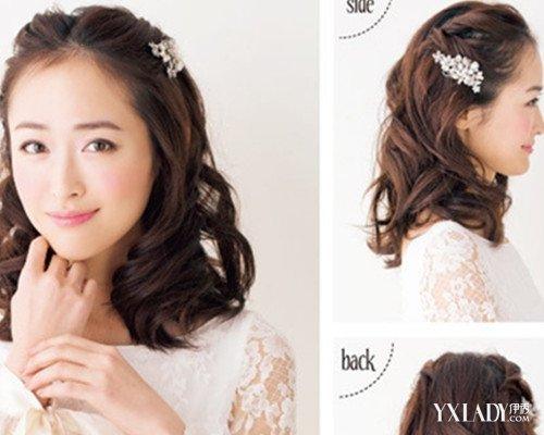【图】短发新娘盘发发型步骤展示 简单设计浪漫又唯美