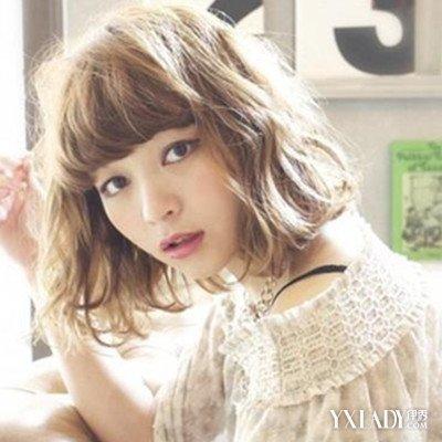 韩范中短发发型图片展示 清新甜美风招人喜欢图片