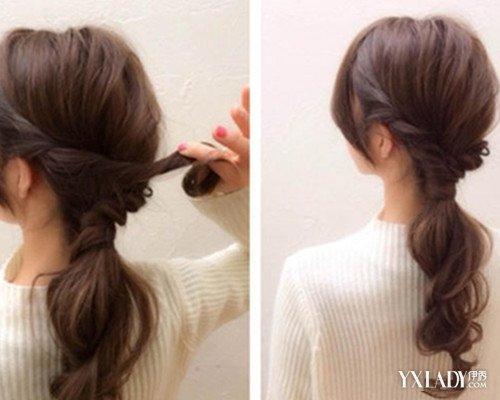 韩式低马尾扎发发型教学 玩转百变扎发图片