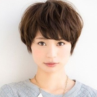 【图】韩式齐耳短发适合颚骨推荐蓬松卷发打发型长发型下大且烫发脸什么图片