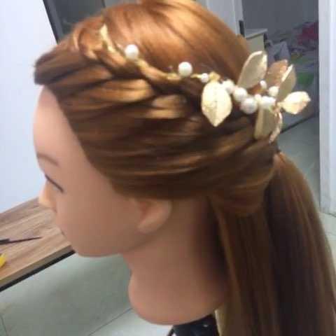 【熊虎编发】披发编发发型新娘 地中海式编发让你做美美新娘图片
