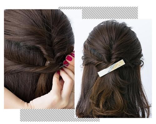 齐肩短发发型扎法图解展示 6步提升你的吸睛指数
