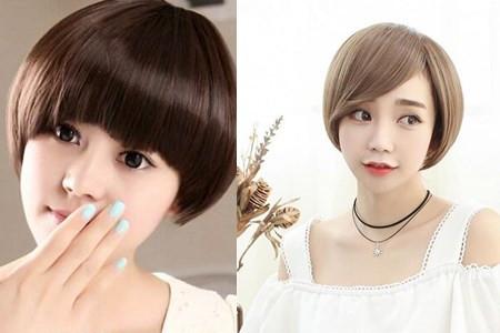 长安suv280 短发发型图片女潮扎发 最新潮短发发型图片  2019年圆脸图片